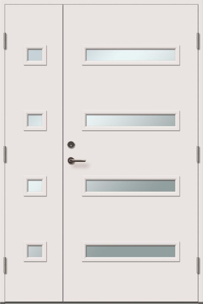 viljandi aken ja uks laiendiga ja klaasiga välisuks brändo 4X1R